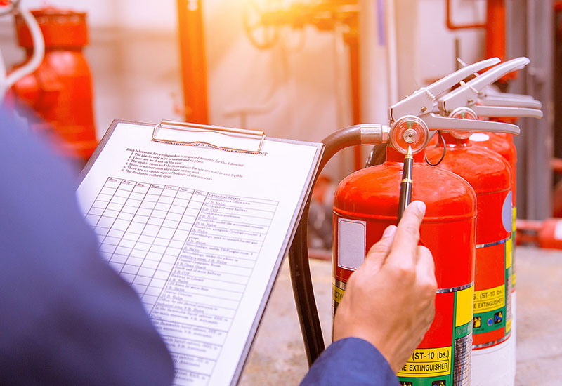 Fire extinguisher checks from Fire Secure in South Devon