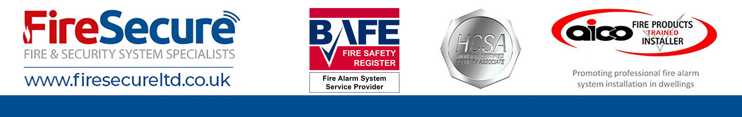 Fire Secure accreditation badges BAFE aico and Hikvision