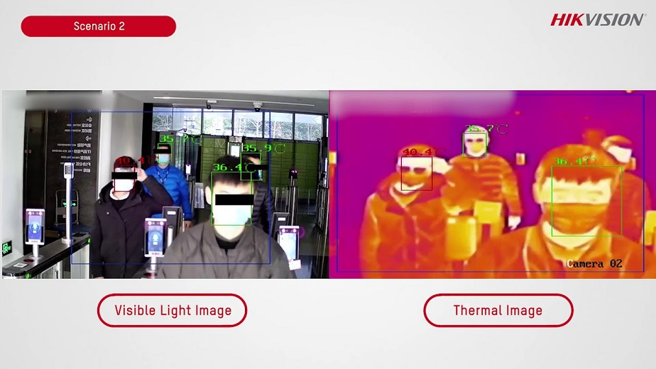 Visible Light Image versus a Thermal Image